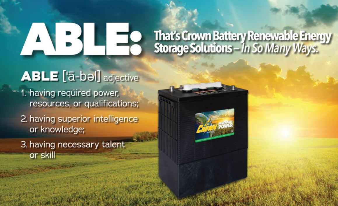 Crown Battery renewable energy