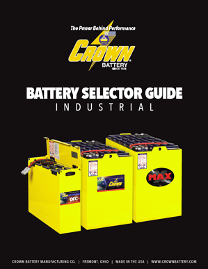 Crown-Industrial-Battery-Selector-Guide-Cover-Image